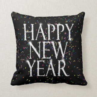 Sparkling Happy New Year Throw Pillow