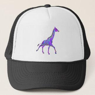 Sparkling Hippie Style Purple Giraffe Trucker Hat