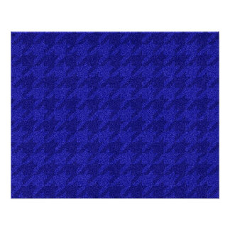 sparkling houndstooth,inky blue (I) Perfect Poster