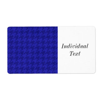 sparkling houndstooth,inky blue (I) Shipping Label
