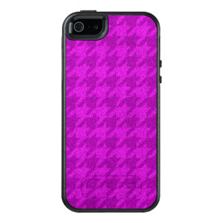 sparkling houndstooth pink (I) OtterBox iPhone 5/5s/SE Case