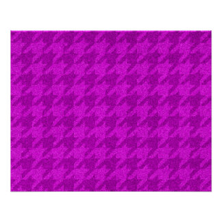 sparkling houndstooth pink (I) Perfect Poster