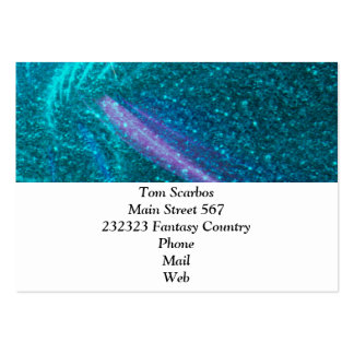 sparkling lights aqua business card templates