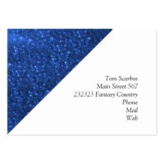 sparkling lights blue business card