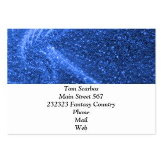 sparkling lights blue business card templates