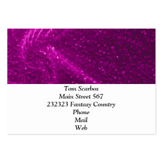 sparkling lights pink business card