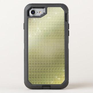 Sparkling Metallic Golden Sequin OtterBox Defender iPhone 8/7 Case