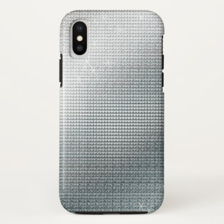 Sparkling Metallic Silver Sequin iPhone X Case