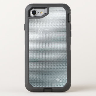 Sparkling Metallic Silver Sequin OtterBox Defender iPhone 8/7 Case