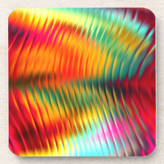Sparkling Multi Colored Glass Drink Coaster