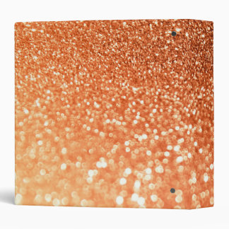 Sparkling Ombre Copper Shiny Trendy Glitter Vinyl Binders