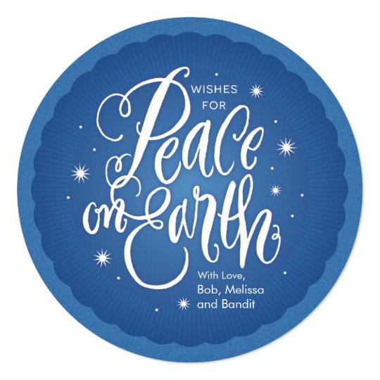 Sparkling Peace on Earth Card