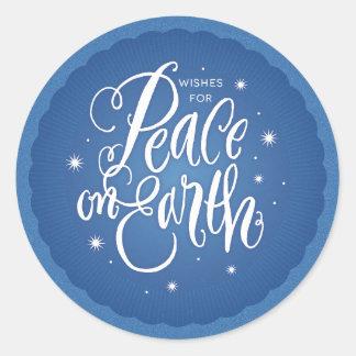 Sparkling Peace on Earth Return Sticker