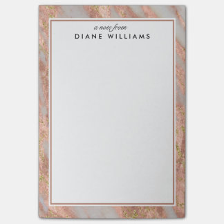 Sparkling Pink Marble Abstract Pattern Post-it Notes