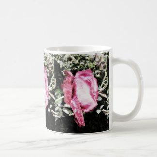 Sparkling Pink Rose Coffee Mug