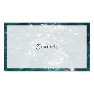 Sparkling Pool Water Background Business Card