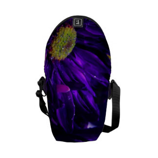 Sparkling Purple Flower Messenger Bags