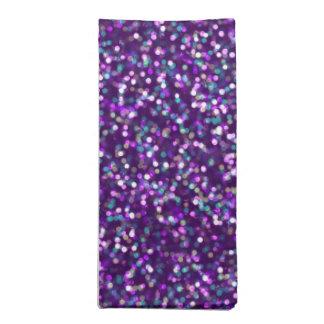 Sparkling Purple Glitter Napkin