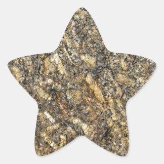 Sparkling Quartz Mineral Texture Star Sticker