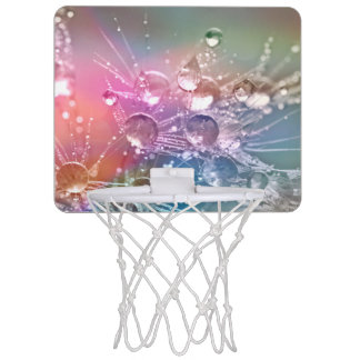 Sparkling Rainbow Water Drops Mini Basketball Hoop