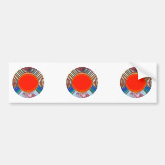 Sparkling RED Deco Emblem GIFTS emit ENERGY Bumper Stickers
