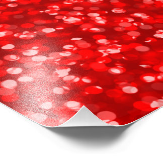 Sparkling Red Glitter Photo Print