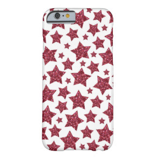 Sparkling red glitter stars barely there iPhone 6 case