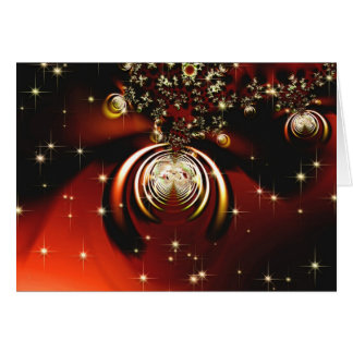 Sparkling red ornament card
