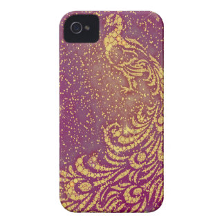 Sparkling Red & Yellow Peacock Case-Mate iPhone 4 Case
