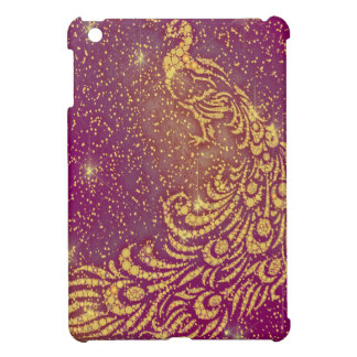Sparkling Red & Yellow Peacock Cover For The iPad Mini
