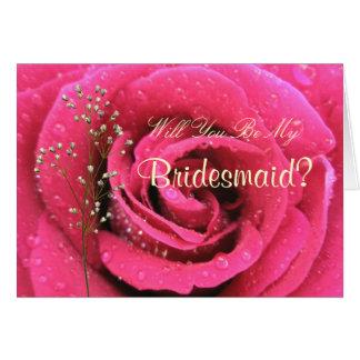 Sparkling Rose Card