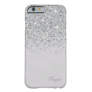 Sparkling Silver and Glitter Barely There iPhone 6 Case