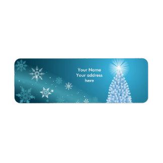 Sparkling snow landscape label personalize