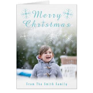 Sparkling Snowflake Christmas Card