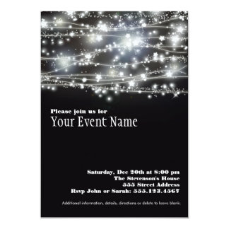 Sparkling Star Holiday Celebration Invitation Card