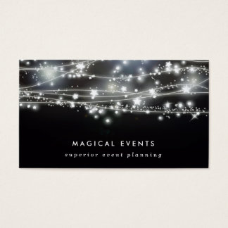 Sparkling Stars Event Planning and Entertainment Business Card