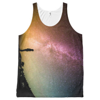 Sparkling Stars Rainbow Galaxy All-Over-Print Tank Top