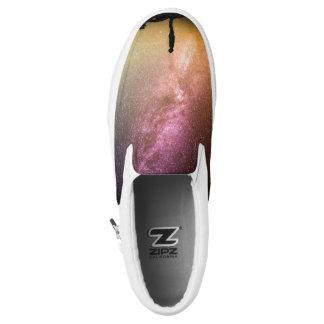 Sparkling Stars Rainbow Galaxy Slip-On Sneakers