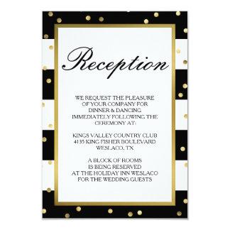 Sparkling Stripes | Elegant Wedding Reception Card