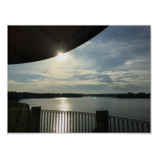 Sparkling Sun on the Lake Poster