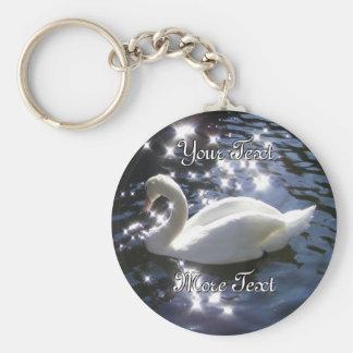 Sparkling Swan Keychain