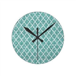 Sparkling Teal Clock