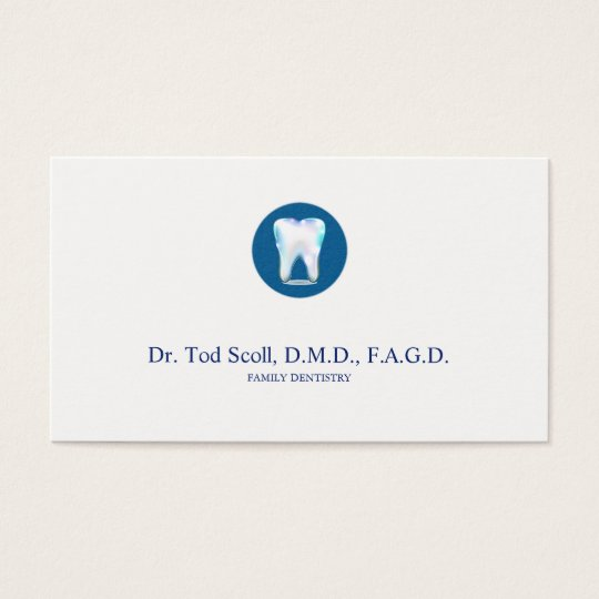 Sparkling Tooth Dentist Dental care Dentistry Business Card