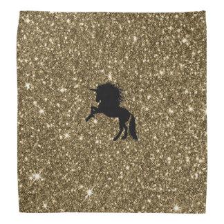 sparkling unicorn golden bandana