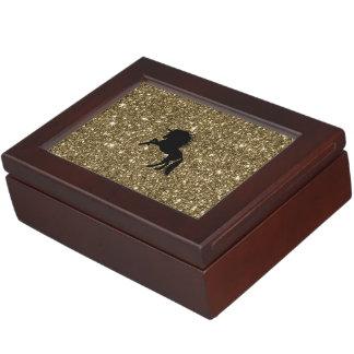 sparkling unicorn golden keepsake box