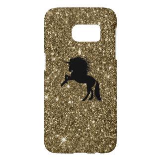sparkling unicorn golden samsung galaxy s7 case
