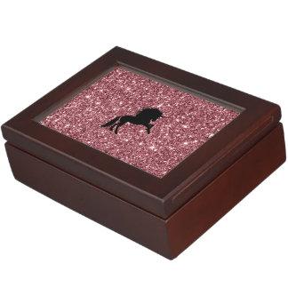 sparkling unicorn pink keepsake box