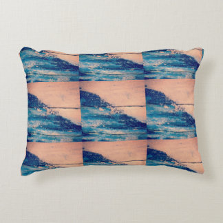 Sparkling Waves design Accent Pillow