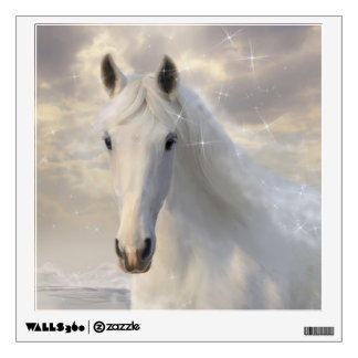 Sparkling White Horse Wall Decal