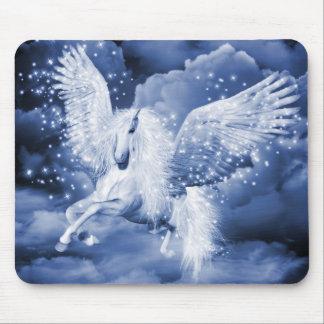 Sparkling White Pegasus Mouse Pad